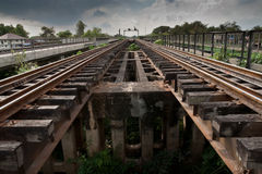 parallella järnvägspår Royaltyfri Bild