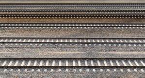 Parallella järnvägsspår Arkivfoto