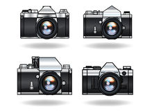 Parallella kameror Arkivfoto