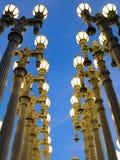 Parallella ljus Arkivfoto