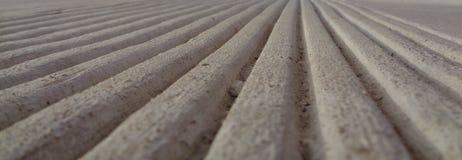 Parallelle Lijnen in Beton naar een Horizon Stock Fotografie