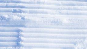 Parallelle strepen in de sneeuw Stock Afbeeldingen