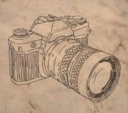 parallellt kamerafoto royaltyfri illustrationer
