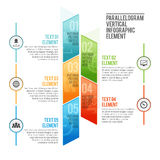 Parallelogram Vertical Infographic Element Royalty Free Stock Photo