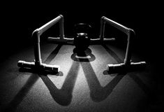 Parallettes and Kettle Bell 2 Shadow Royalty Free Stock Photos