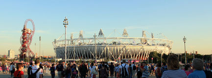 Paralymics London 2012. LONDON - SEPT 07: The Olympic Stadium in Olympic Park during the Paralympics on September 07, 2012, in London, England Royalty Free Stock Image