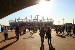 Paralymics London 2012. LONDON - SEPT 07: The Olympic Stadium in Olympic Park during the Paralympics on September 07, 2012, in London, England Royalty Free Stock Images