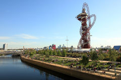 Paralymics London 2012. LONDON - SEPT 07: Orbit Tower in Olympic Park during the Paralympics on September 07, 2012, in London, England Stock Photography