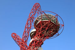 Paralymics London 2012. LONDON - SEPT 07: Orbit Tower in Olympic Park during the Paralympics on September 07, 2012, in London, England Royalty Free Stock Image