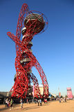 Paralymics London 2012. LONDON - SEPT 07: Orbit Tower in Olympic Park during the Paralympics on September 07, 2012, in London, England Stock Image