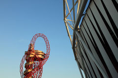 Paralymics London 2012. LONDON - SEPT 07: Orbit Tower in Olympic Park during the Paralympics on September 07, 2012, in London, England Stock Images