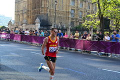 Paralympic Athlete at the marathon Stock Images