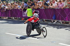 Paralympic Athlete, wheels royalty free stock photography