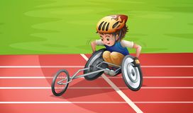 Paralympic Athletes at the Stadium. Illustration Stock Photo