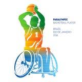 Paralympic basketspelare Royaltyfria Bilder