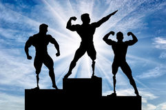 Paralympic bodybuilders be awarded day Royalty Free Stock Photos