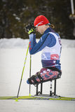 Paralympic cross country ski racer Royalty Free Stock Photo