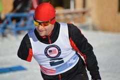 Paralympic cross country skier Stock Photos