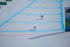 Paralympic die bergaf skiô Stock Afbeelding