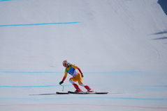 Paralympic Downhill Skiing. Downhill skiing events during the 2010 Vancouver Winter Paralympic Games in Whistler, British Columbia, Canada royalty free stock images