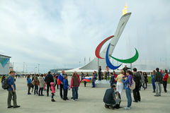 Paralympic-Flamme Stockbild