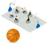 Paralympic Games. Basketball court. Royalty Free Stock Image