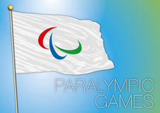 Paralympic games flag. Vector file and illustration paralympic games flag, rio de janeiro, brazil, 2016 Royalty Free Stock Images
