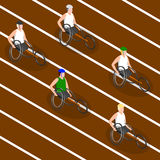 Paralympic Games. Racing wheelchairs. Stock Photography