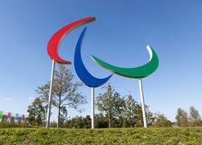 The Paralympic Games symbol. Stock Photo