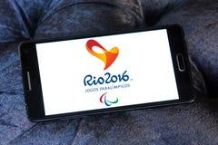 Paralympic gier Rio 2016 logo Zdjęcia Royalty Free