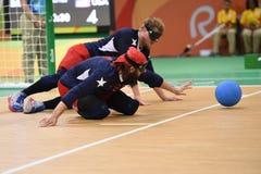Paralympic Goalball Stockbild