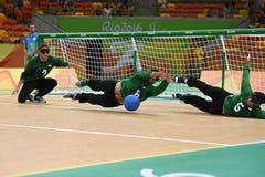 Paralympic Goalball Stockbilder