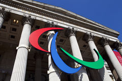 The Paralympic Logo on the National Gallery. In London Royalty Free Stock Photo