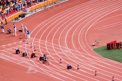 北京比赛马拉松人paralympic s 库存照片