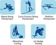 (Paralympic) sportpictograms, Fotografering för Bildbyråer