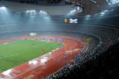 Paralympic stadium. Inside the national stadium(also named as Bird's nest ) of the Beijing 2008 Paralympic Games Royalty Free Stock Photos
