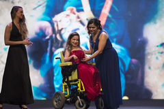 Paralympic wards. Rio de Janeiro, Brazil - december 07, 2016:  Evani Calado winner in the bocce ball category of the Paralympic wards that takes place in Vivo Stock Images