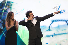 Paralympic wards. Rio de Janeiro, Brazil - december 07, 2016:  Luciano Rezende winner in the archery category of the Paralympic wards that takes place in Vivo Stock Photo
