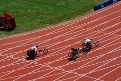 Paralympic Wheelchair race Stock Photos
