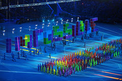 Paralympic winter games 2014 stock images