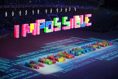 Paralympic-Winterspiele 2014 stockbild