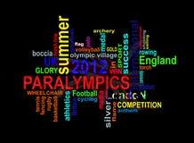 Paralympics 2012 - Nube de las palabras de los juegos del verano de Londres Fotos de archivo