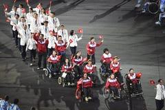 Paralympics Rio 2016. Rio de Janeiro, Brazil - september 07, 2016: opening ceremony of the Paralympics Rio 2016 at Maracana Stadium royalty free stock image