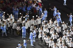 Paralympics Rio 2016. Rio de Janeiro, Brazil - september 07, 2016: opening ceremony of the Paralympics Rio 2016 at Maracana Stadium royalty free stock photo