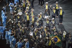 Paralympics Rio 2016. Rio de Janeiro, Brazil - september 07, 2016: opening ceremony of the Paralympics Rio 2016 at Maracana Stadium stock photo