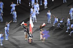 Paralympics Rio 2016. Rio de Janeiro, Brazil - september 07, 2016: opening ceremony of the Paralympics Rio 2016 at Maracana Stadium royalty free stock image