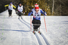Paralympics sit ski racer Stock Photo
