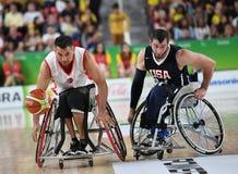 Paralympics spelar basket 2016 royaltyfri bild