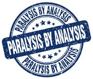 Paralysis by analysis blue stamp. Paralysis by analysis blue grunge round stamp isolated on white background stock illustration