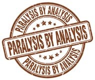 Paralysis by analysis brown stamp. Paralysis by analysis brown grunge round stamp isolated on white background royalty free illustration